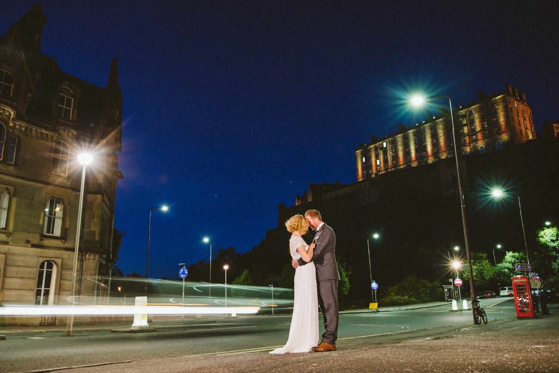 Creative urban wedding photography Scotland