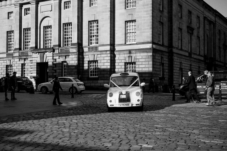 Edinburgh taxi delivers bride