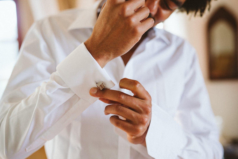 Groom wedding preparations Tobago wedding