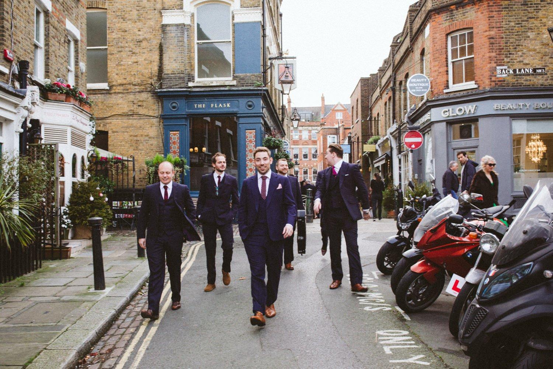 Groom with groomsmen Stoke Newington London