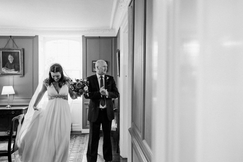 Jenny Packham bride with Father London wedding