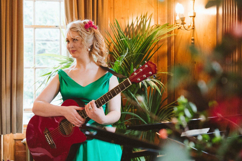 Flamenco guitarist during Burgh House wedding ceremony London