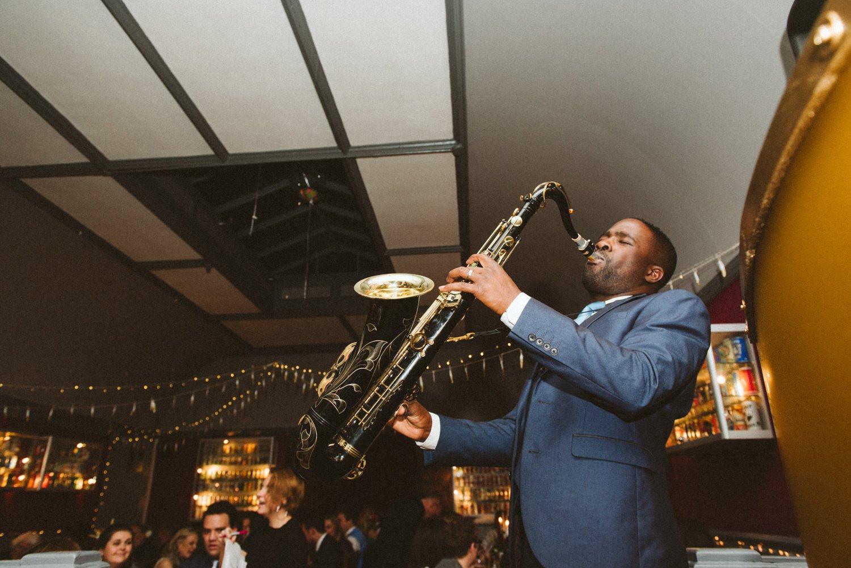 Andre Saxman Brown raising the roof London wedding