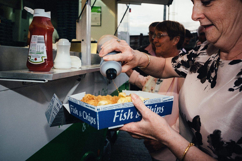 fish and chip van wedding