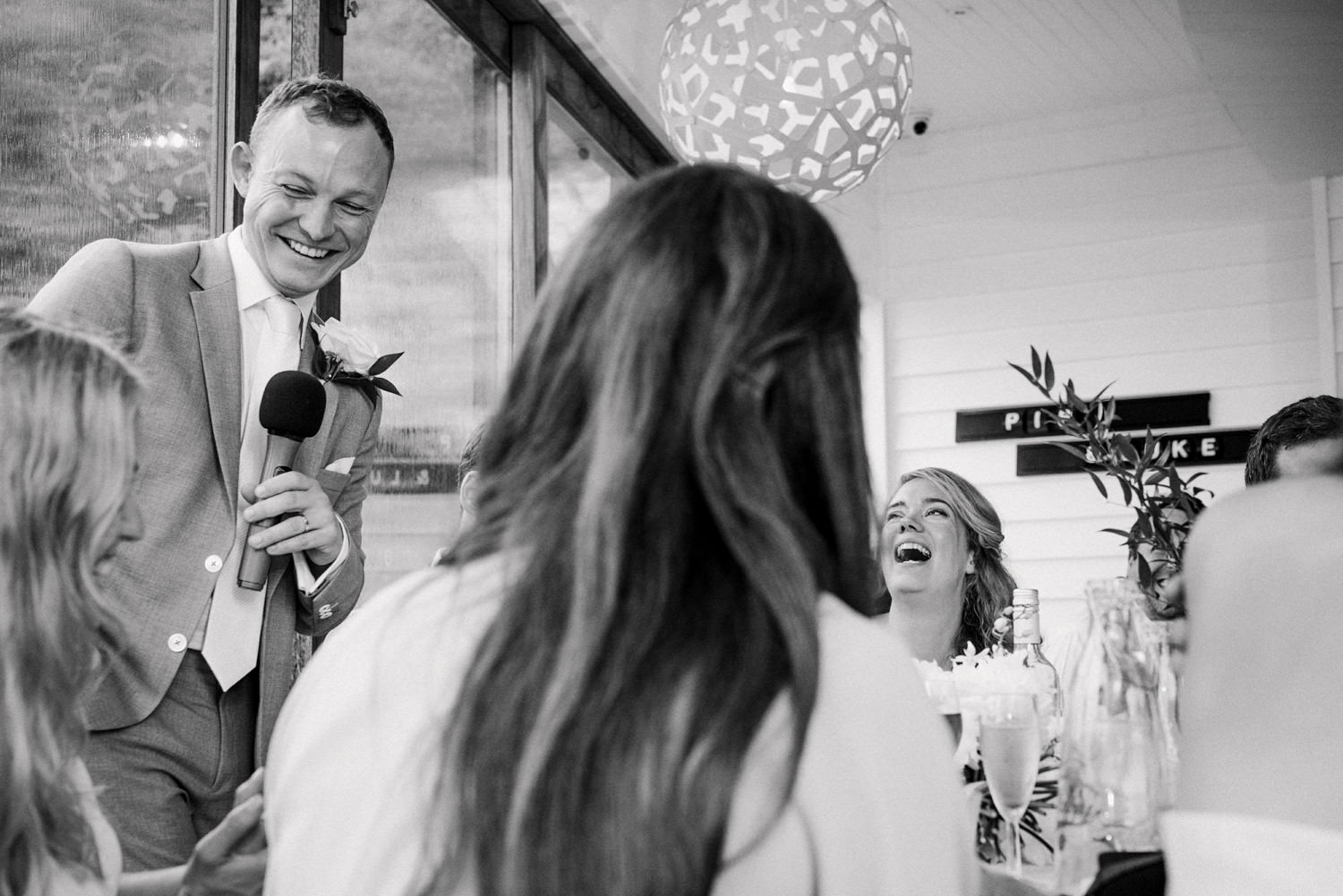 Fun laid back speeches Devon wedding photography Babb Photo