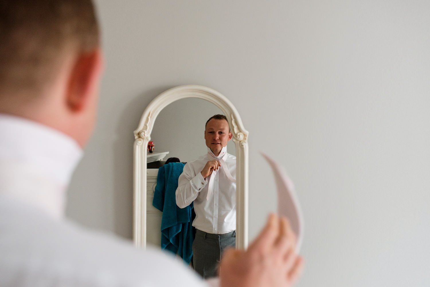 Paul Smith groom pre-wedding documentary photography Devon