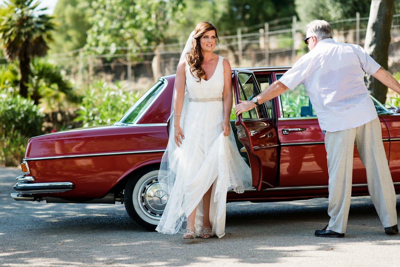 Charlie Brear bride with Stewart Parvin bridal veil Mallorca