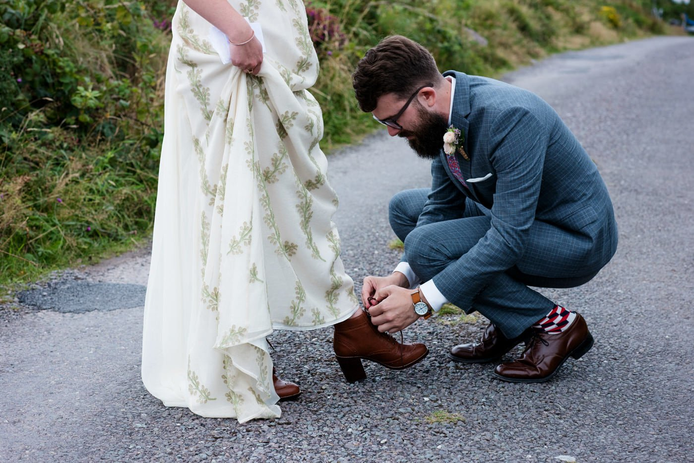 Quirky documentary wedding photography Co Kerry Ireland