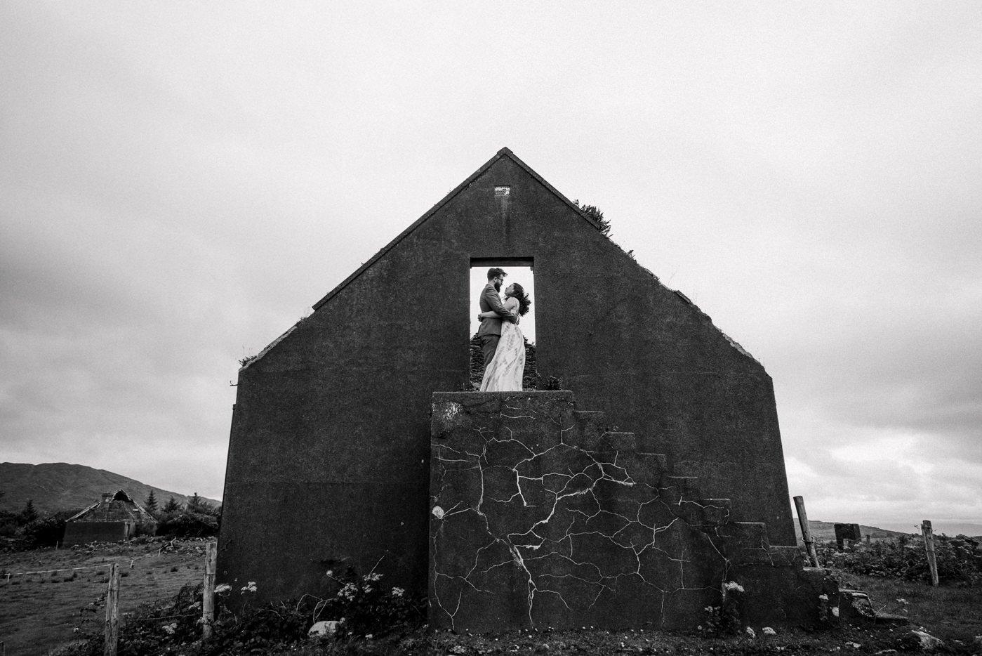 Alternative wedding photography Westcove House Co Kerry Ireland