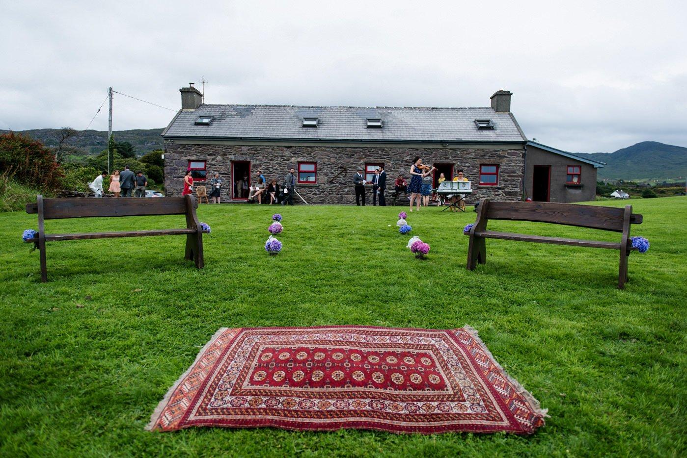 Outdoor DIY wedding Westcove House Co Kerry Ireland