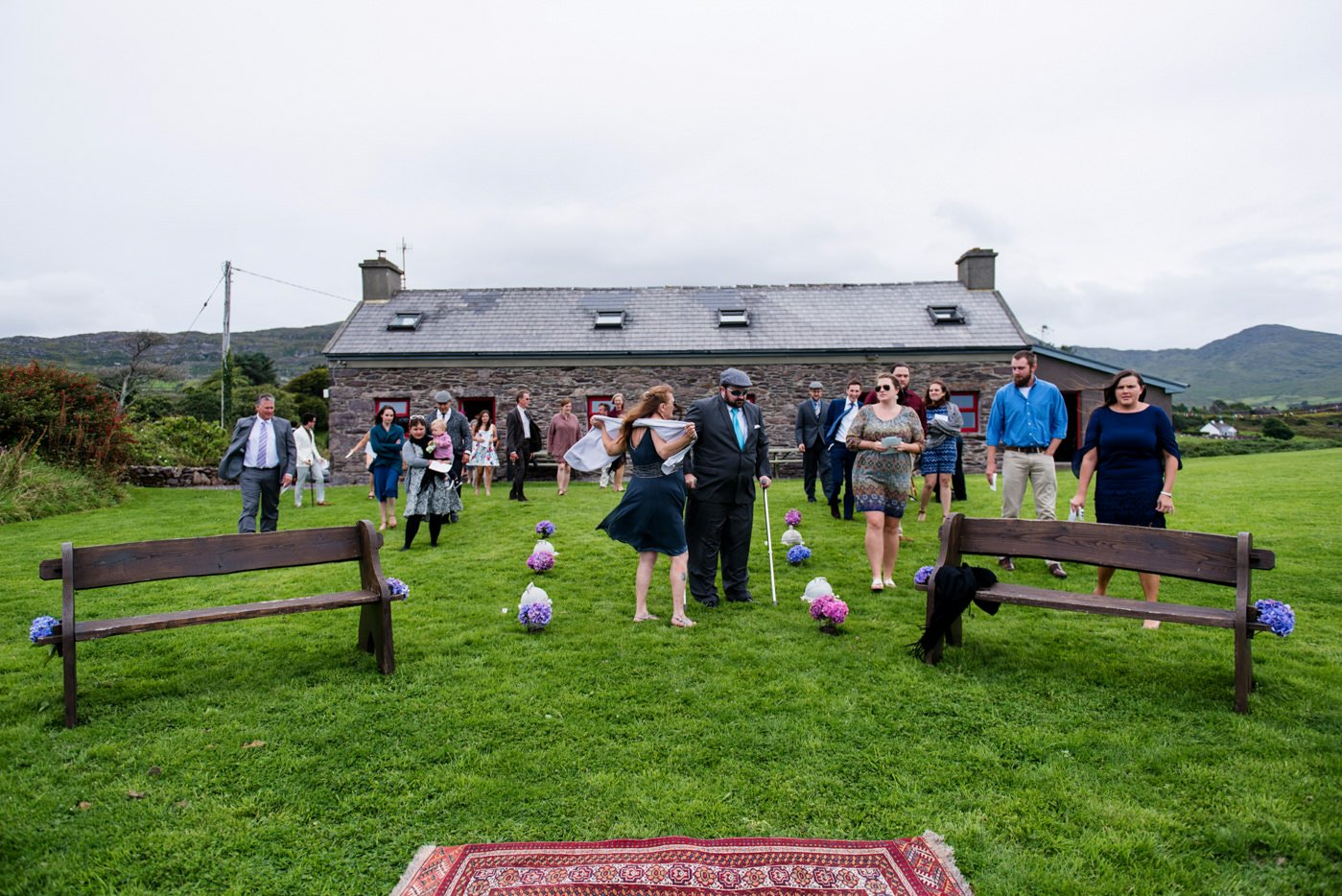 Quirky outdoor wedding Westcove House Co Kerry Ireland