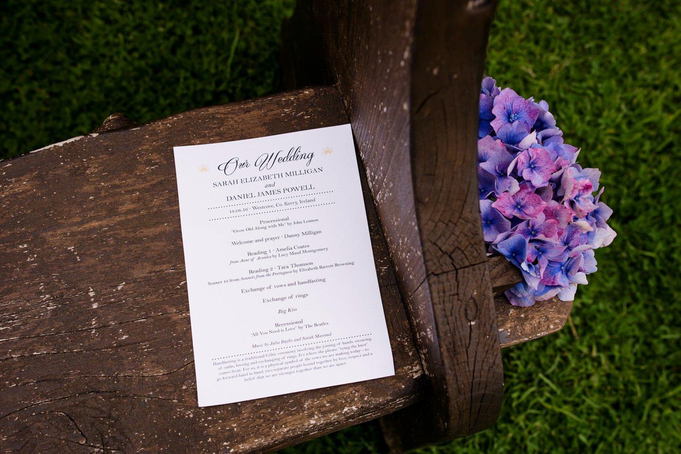 DIY backyard outdoor wedding photography Co Kerry Ireland