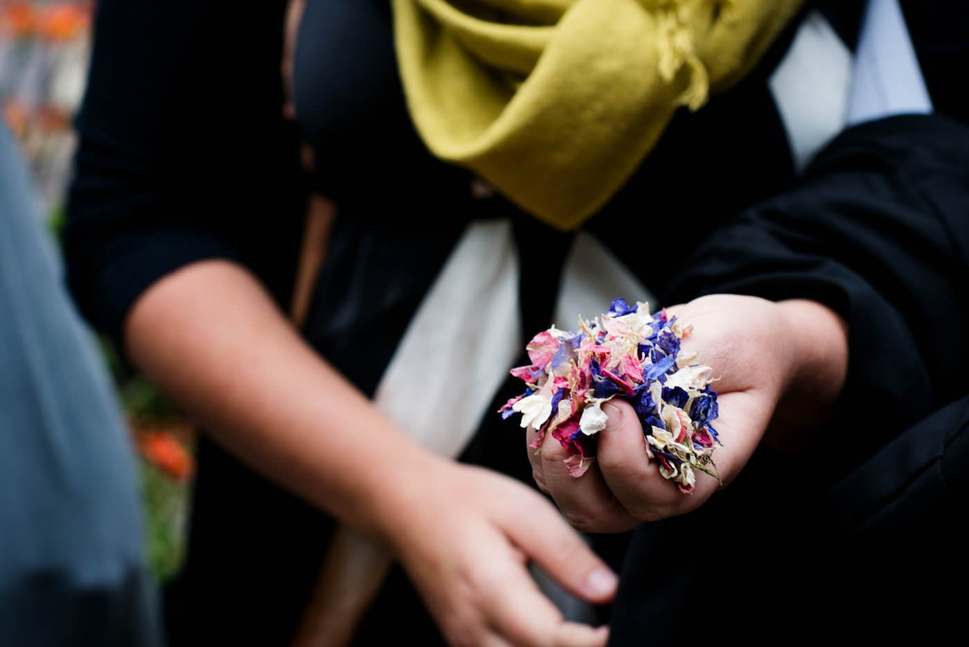 Confetti awaits documentary wedding photography Co Kerry Ireland