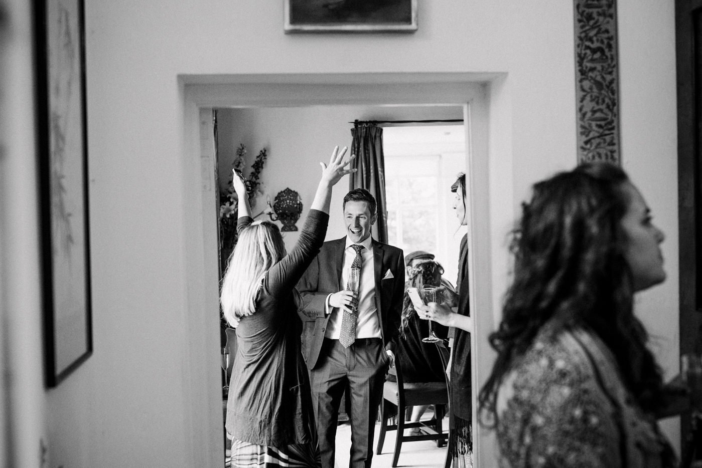 Quirky documentary wedding photography Westcove House Co Kerry Ireland