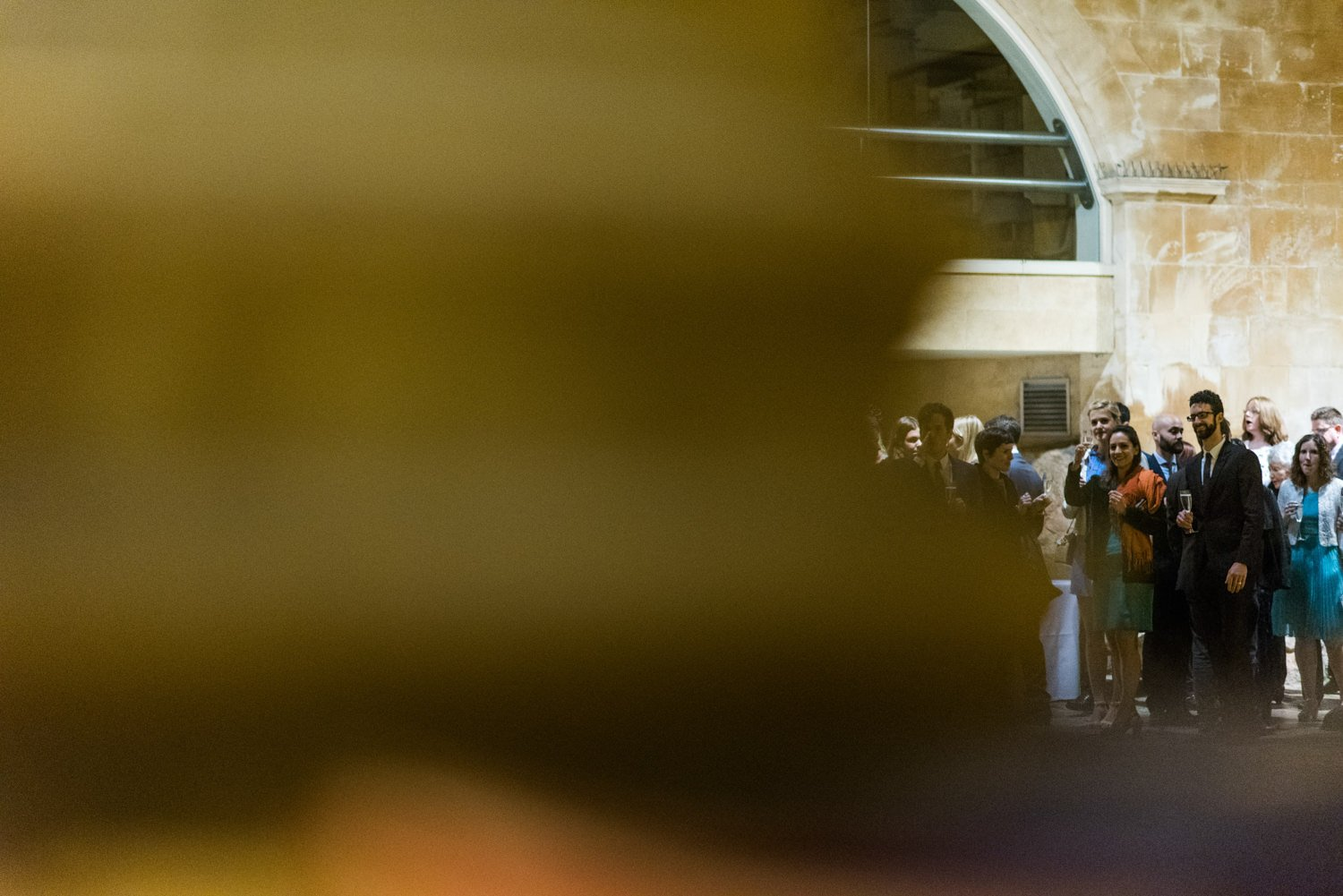 Quirky wedding photography Roman Baths, Somerset