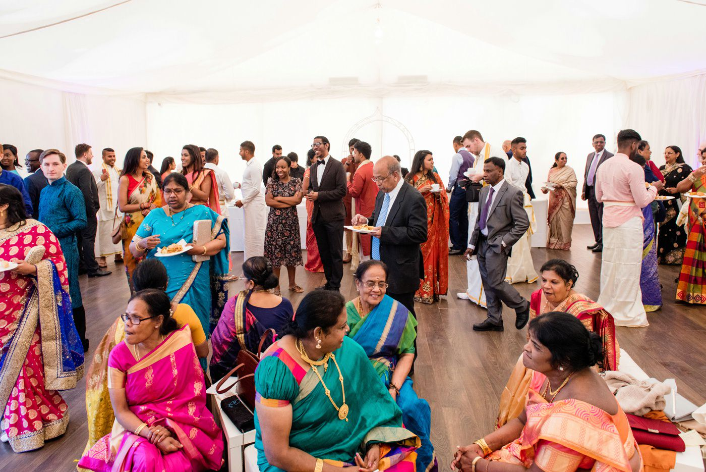 Hindu wedding photography Painshill Park conservatory Surrey