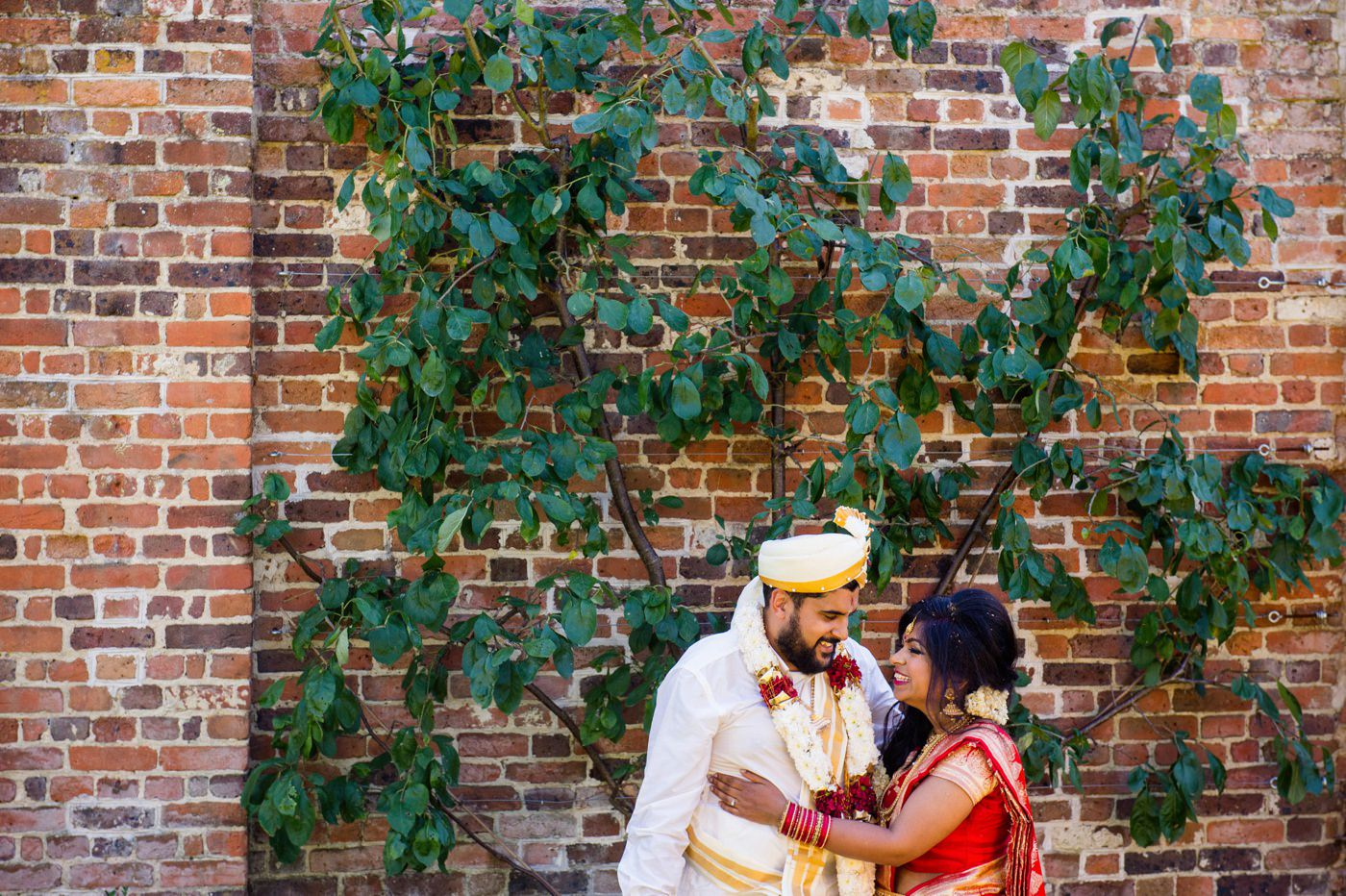 Indian wedding portrait Painshill Park Surrey