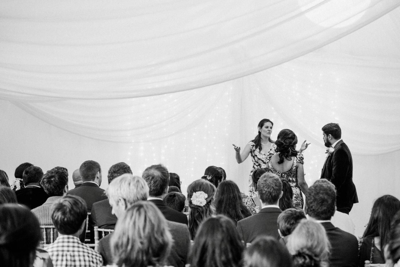 Wedding speeches at Painshill Park Conservatory Surrey