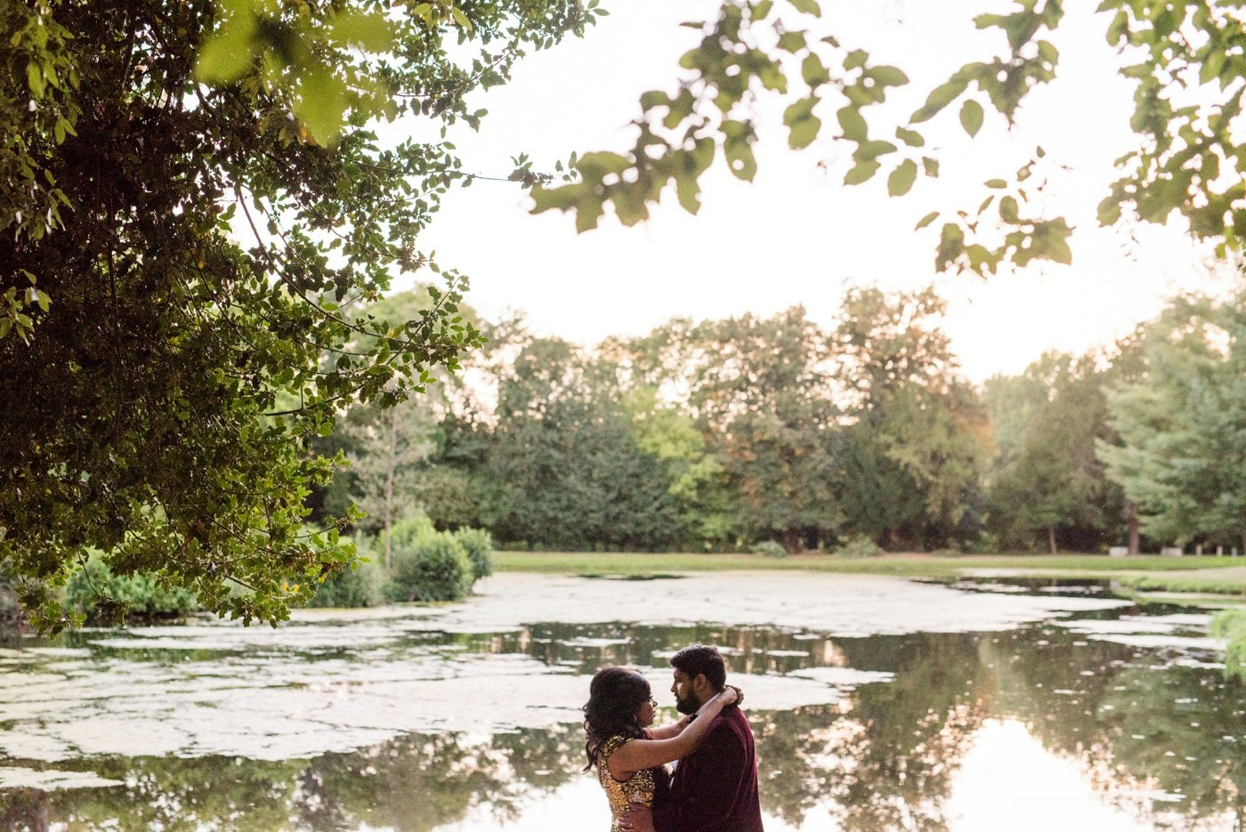 Painshill Park Surrey wedding portrait