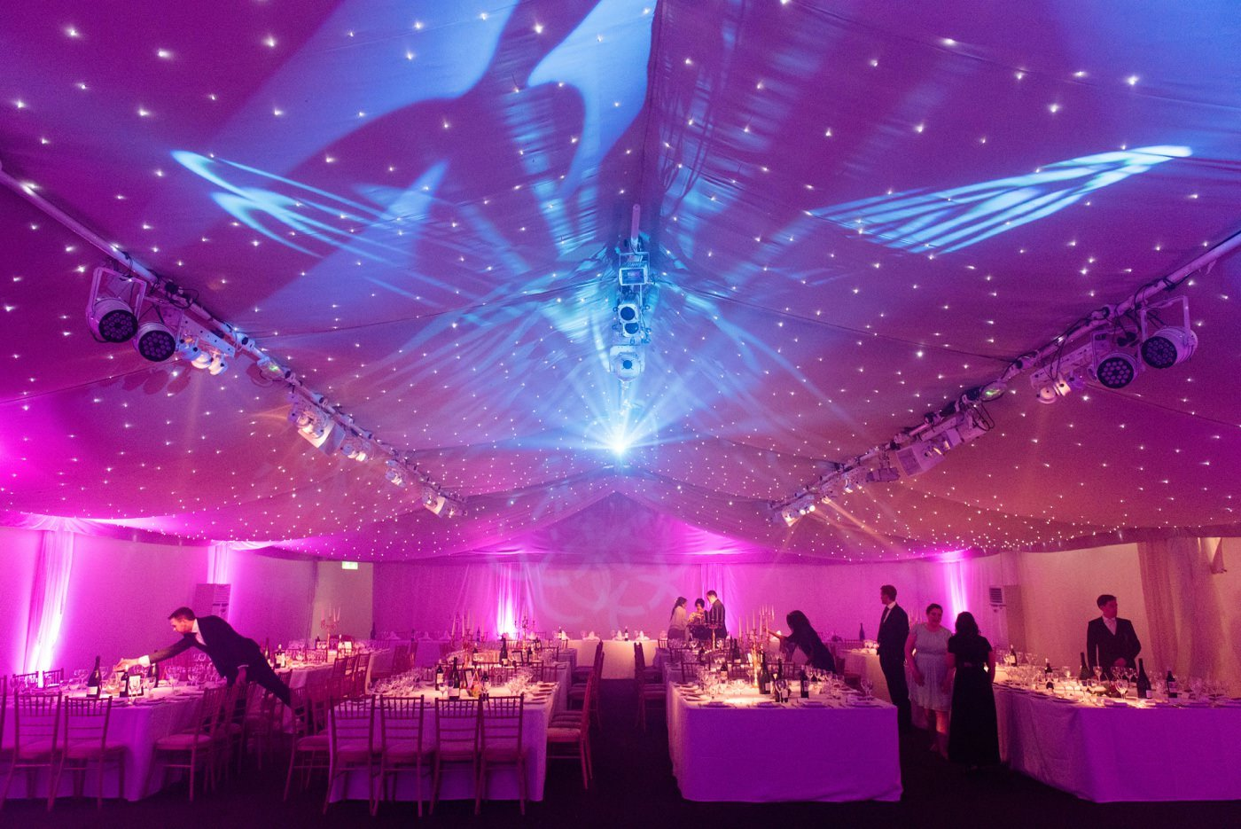 Colourful decor for Indian wedding Painshill Park Surrey