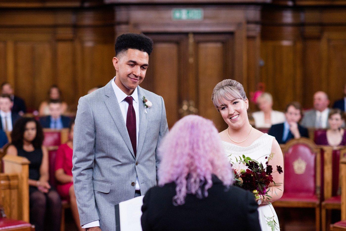 Islington Town Hall wedding portrait London