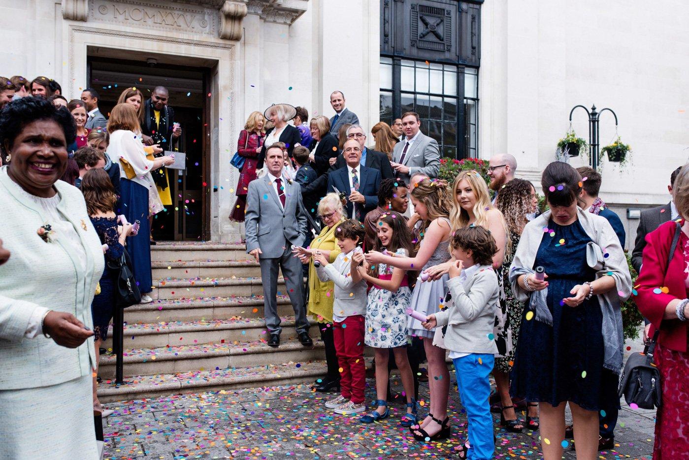 Documentary wedding photography Islington Town Hall London
