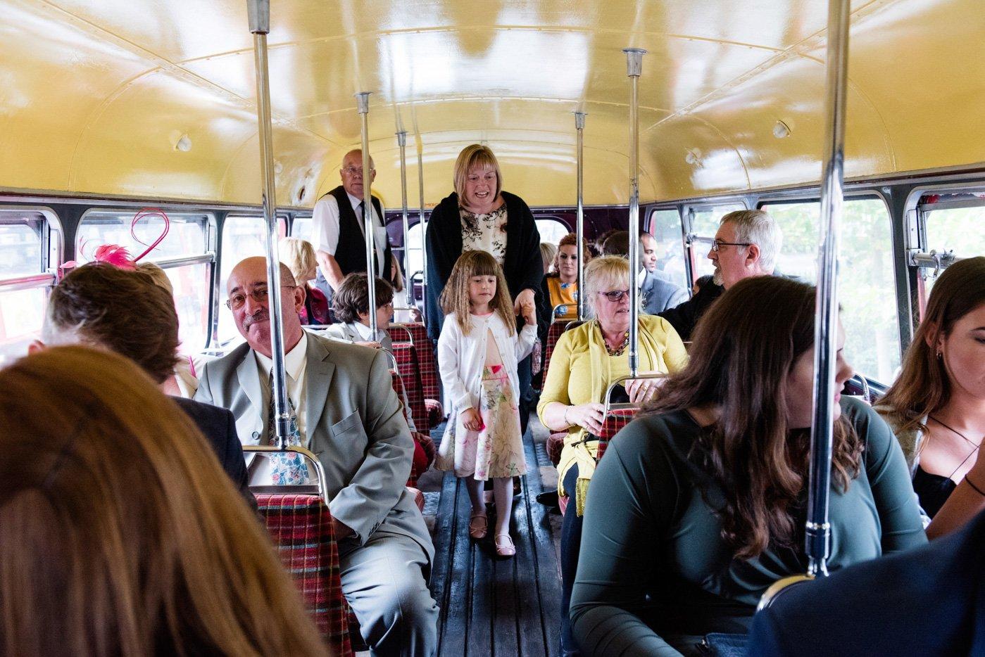 London bus wedding fun