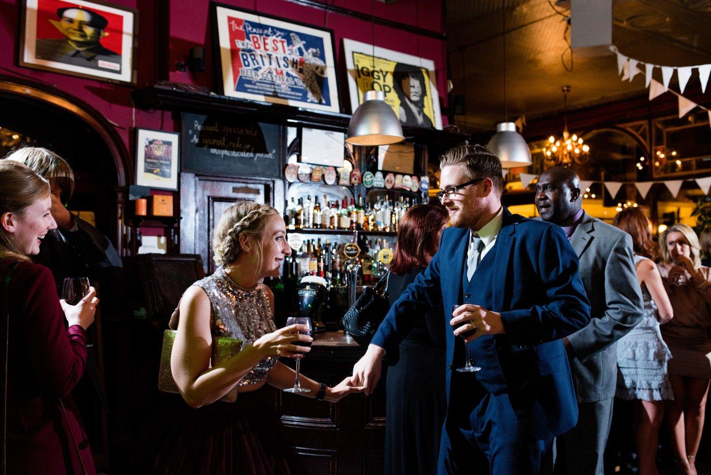 The Peasant pub wedding London wedding photographer
