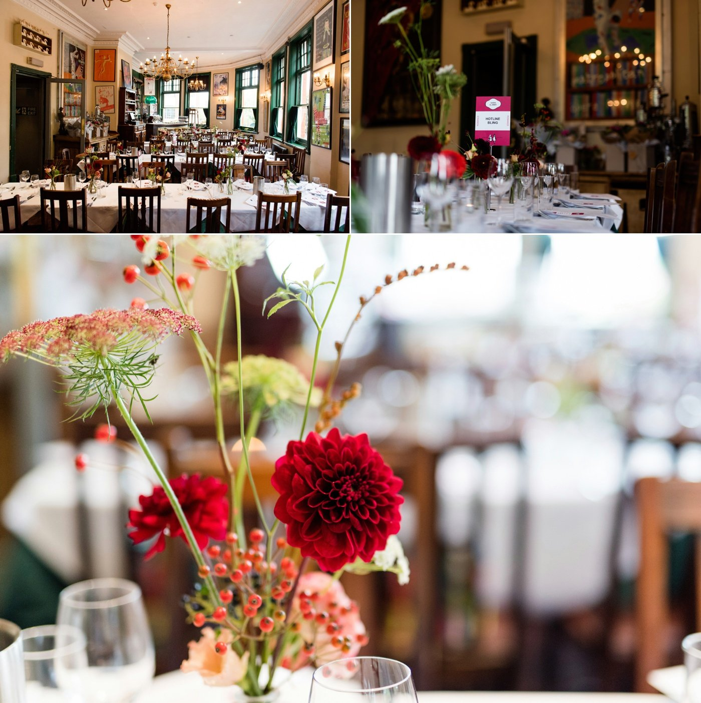 That Flower Shop wedding table decor The Peasant pub London