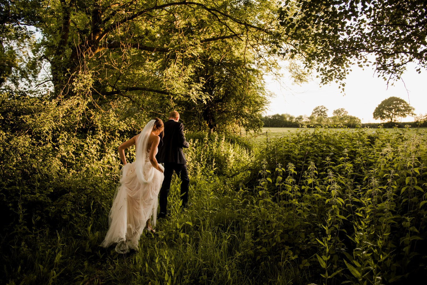 Golden hour portraits Kent wedding photographer