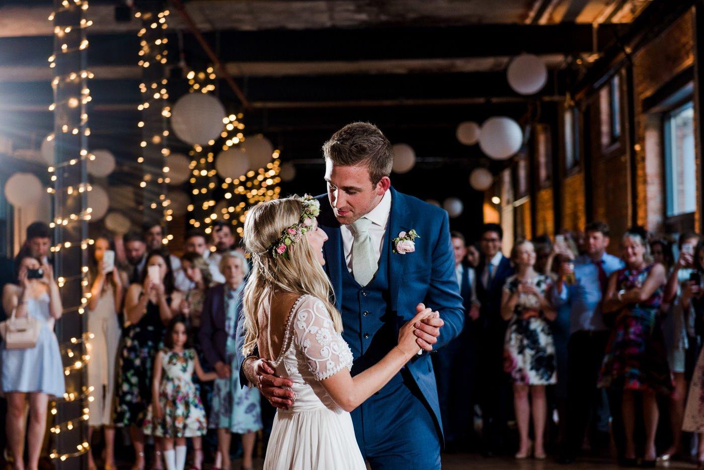 first dance paintworks wedding photographer