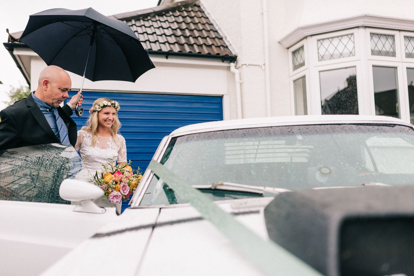 rainy wedding day paintworks wedding photographer