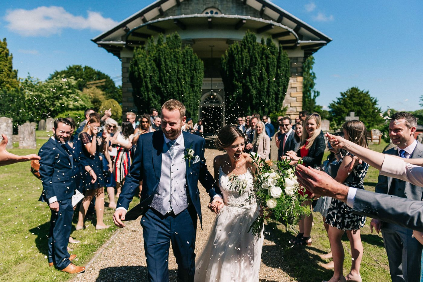 Sprivers Mansion Wedding confetti exit