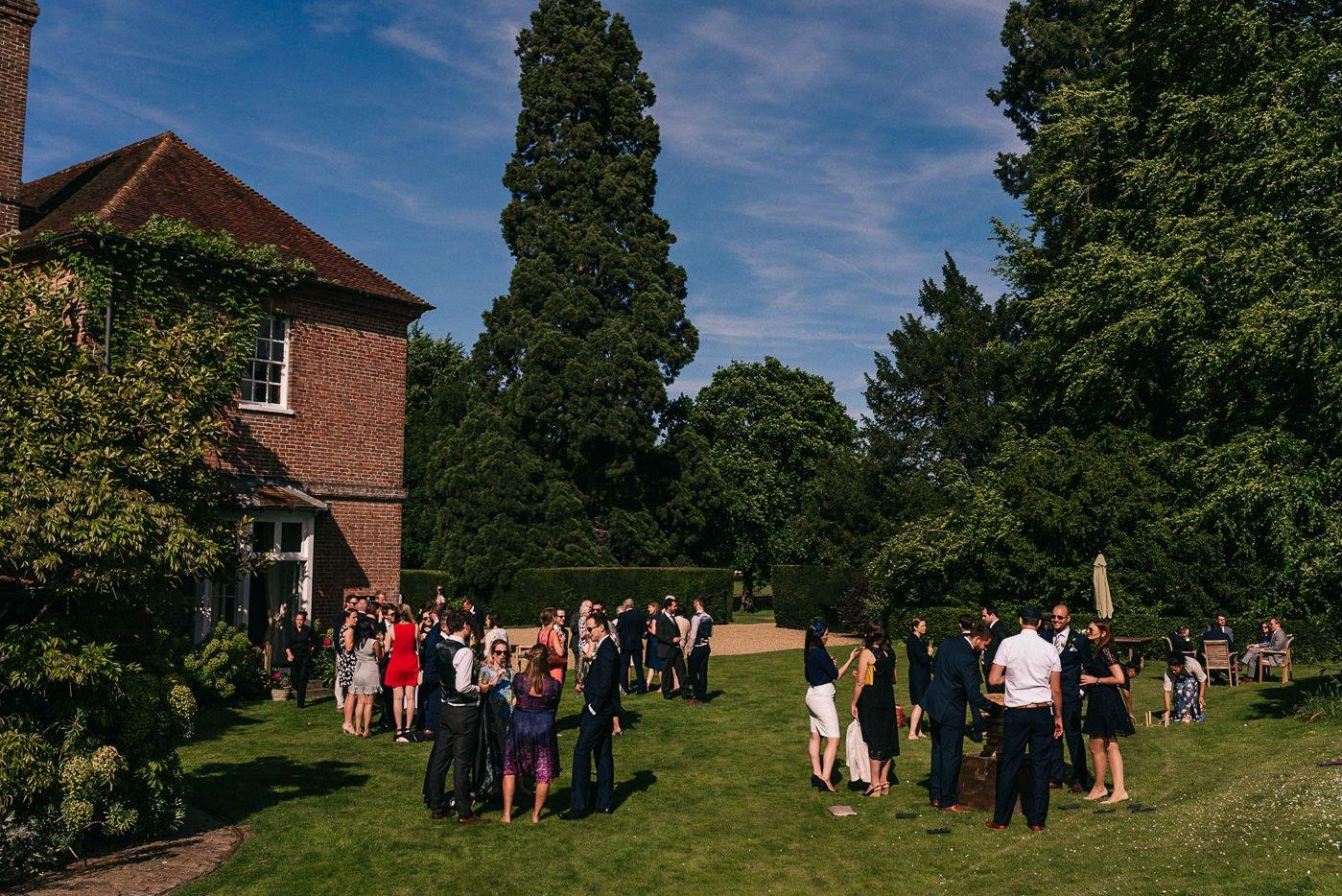Sprivers Mansion Wedding garden reception