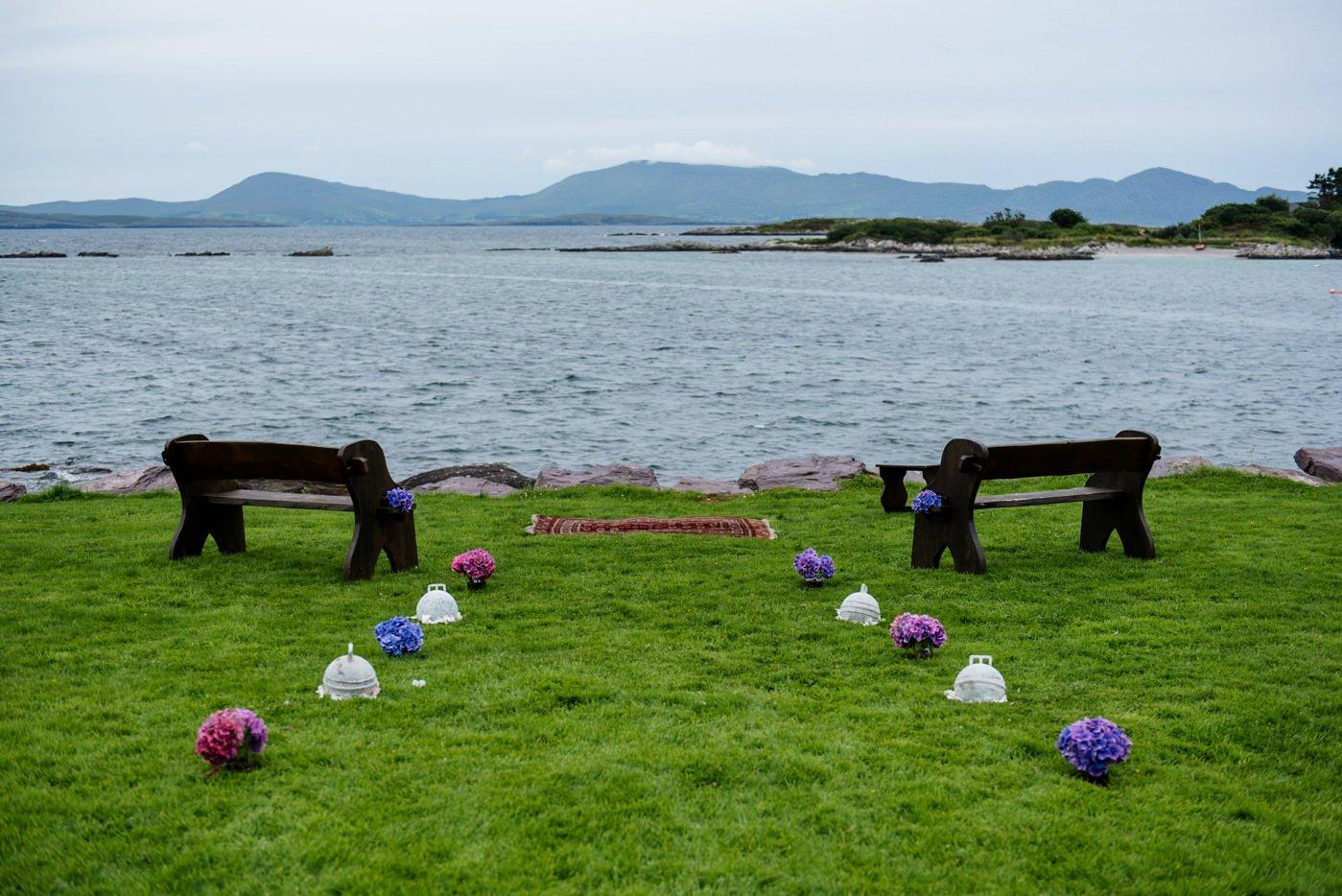 Alternative wedding photographer outdoor wedding ceremony