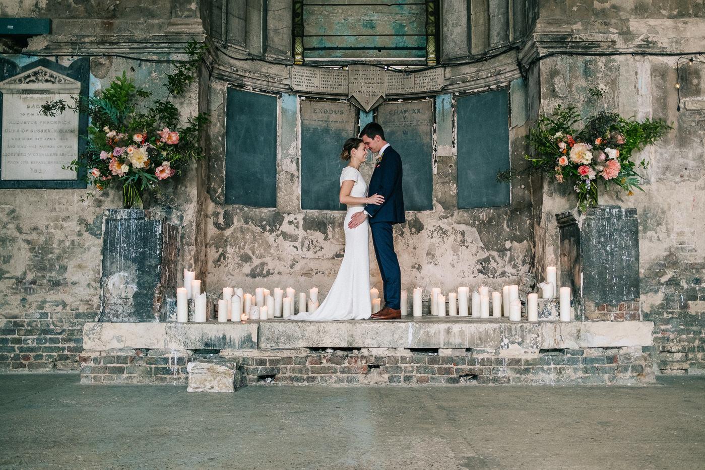 Couple portrait asylum peckham alternative wedding photos