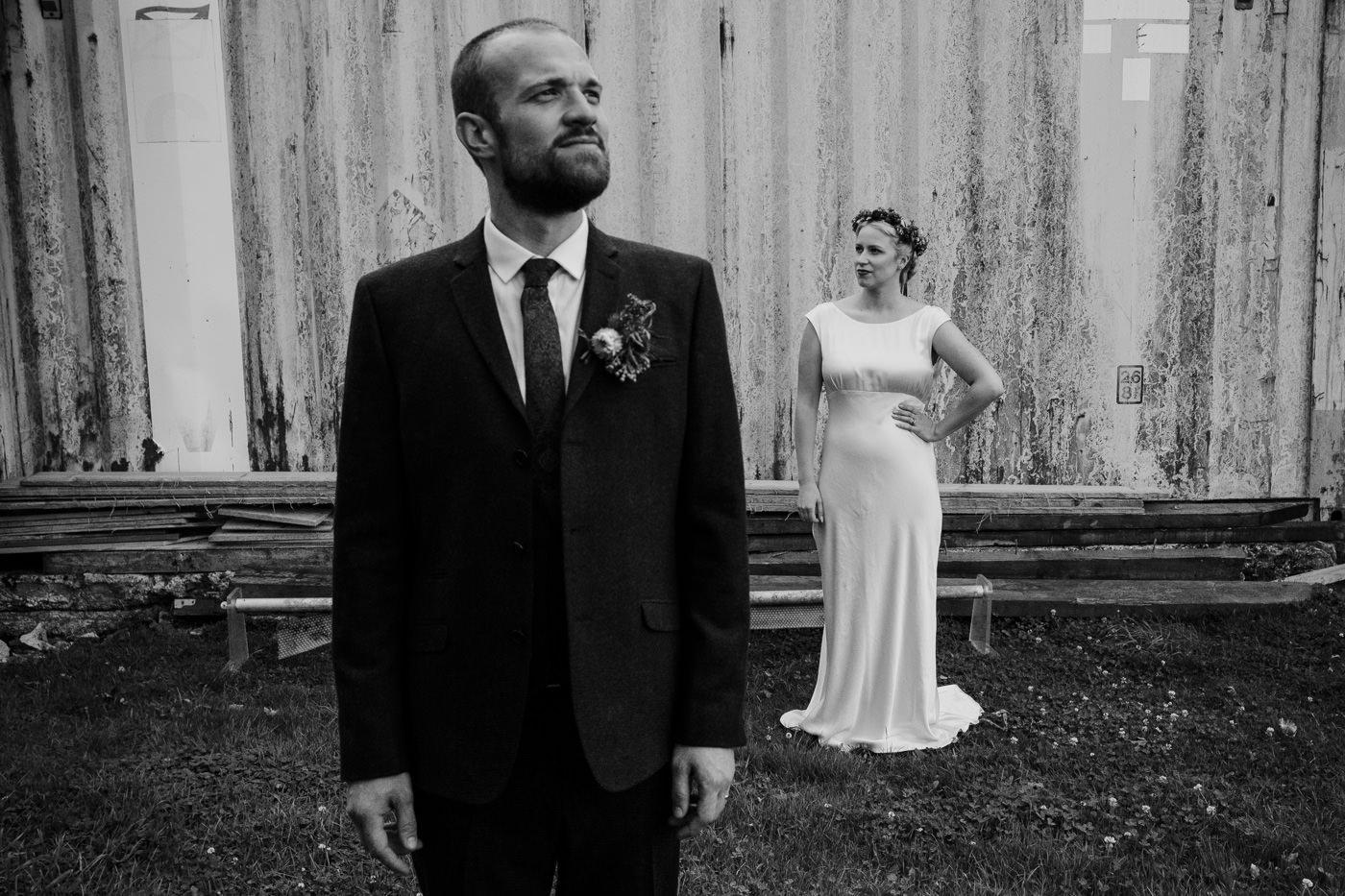 Alternative wedding photographer hipster wedding