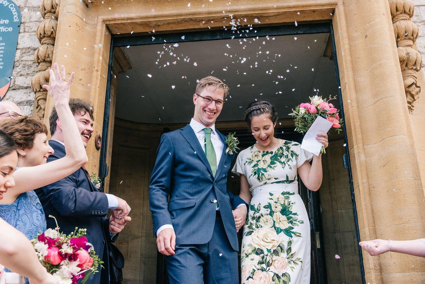 confetti The Perch Oxford wedding photographer