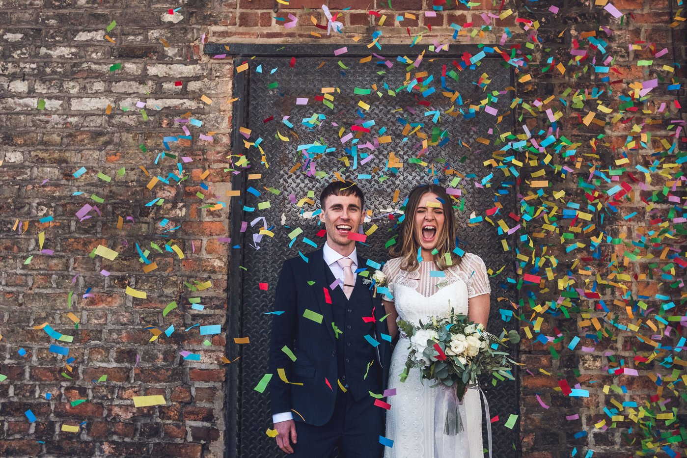 Confetti Hope Mill Theatre wedding photography manchester