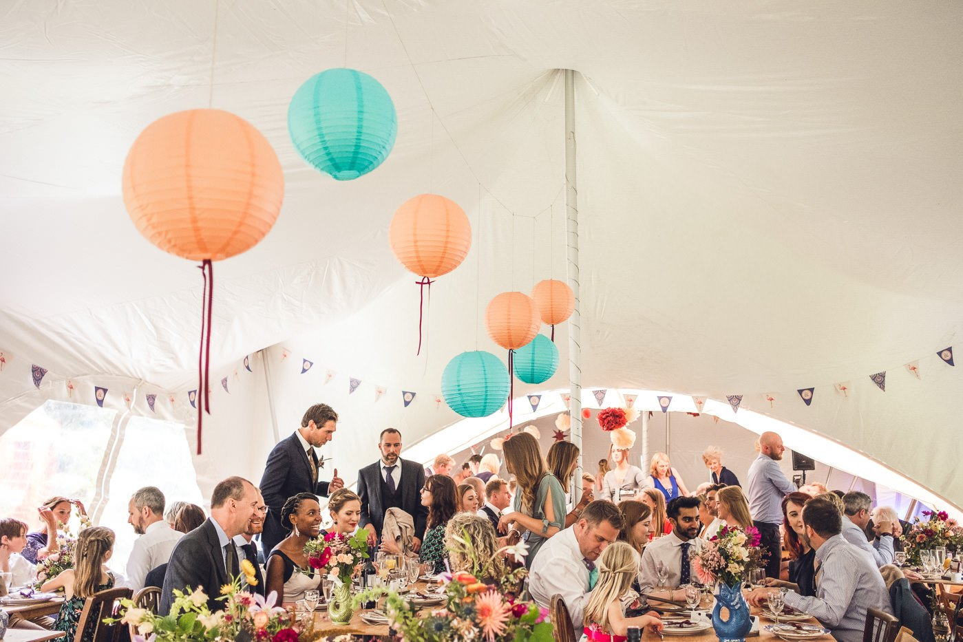 back garden wedding marquee