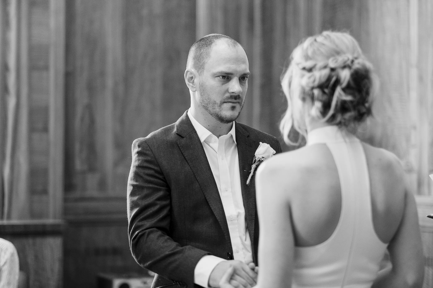 Intimate wedding Hackney Town Hall Elopement Photography London
