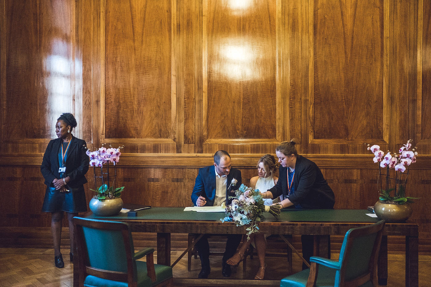 Civil ceremony Hackney Town Hall Elopement Photography London
