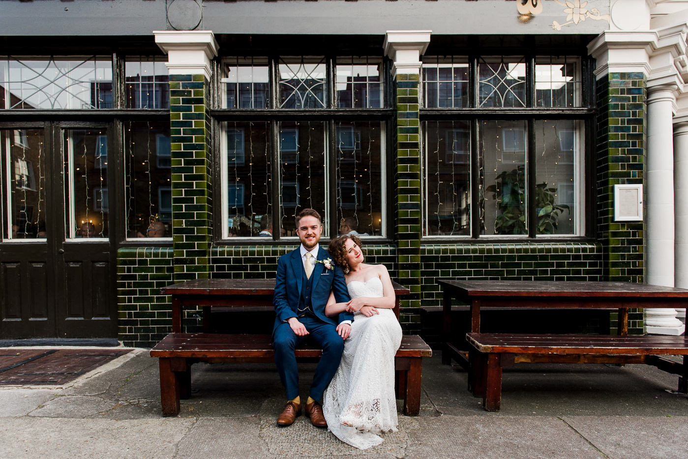 London pub wedding alternative wedding photographer