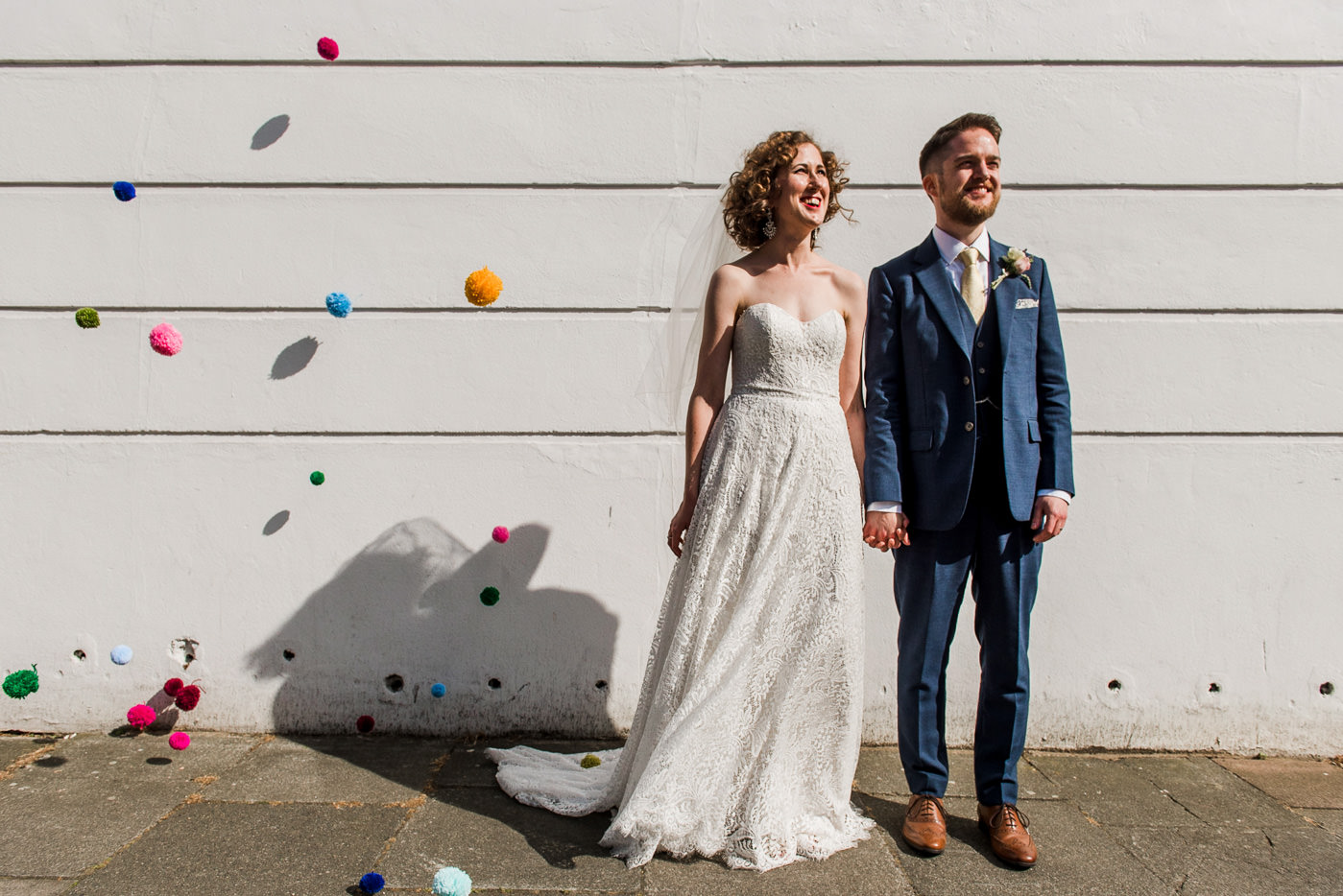 Creative wedding portrait alternative wedding photographer
