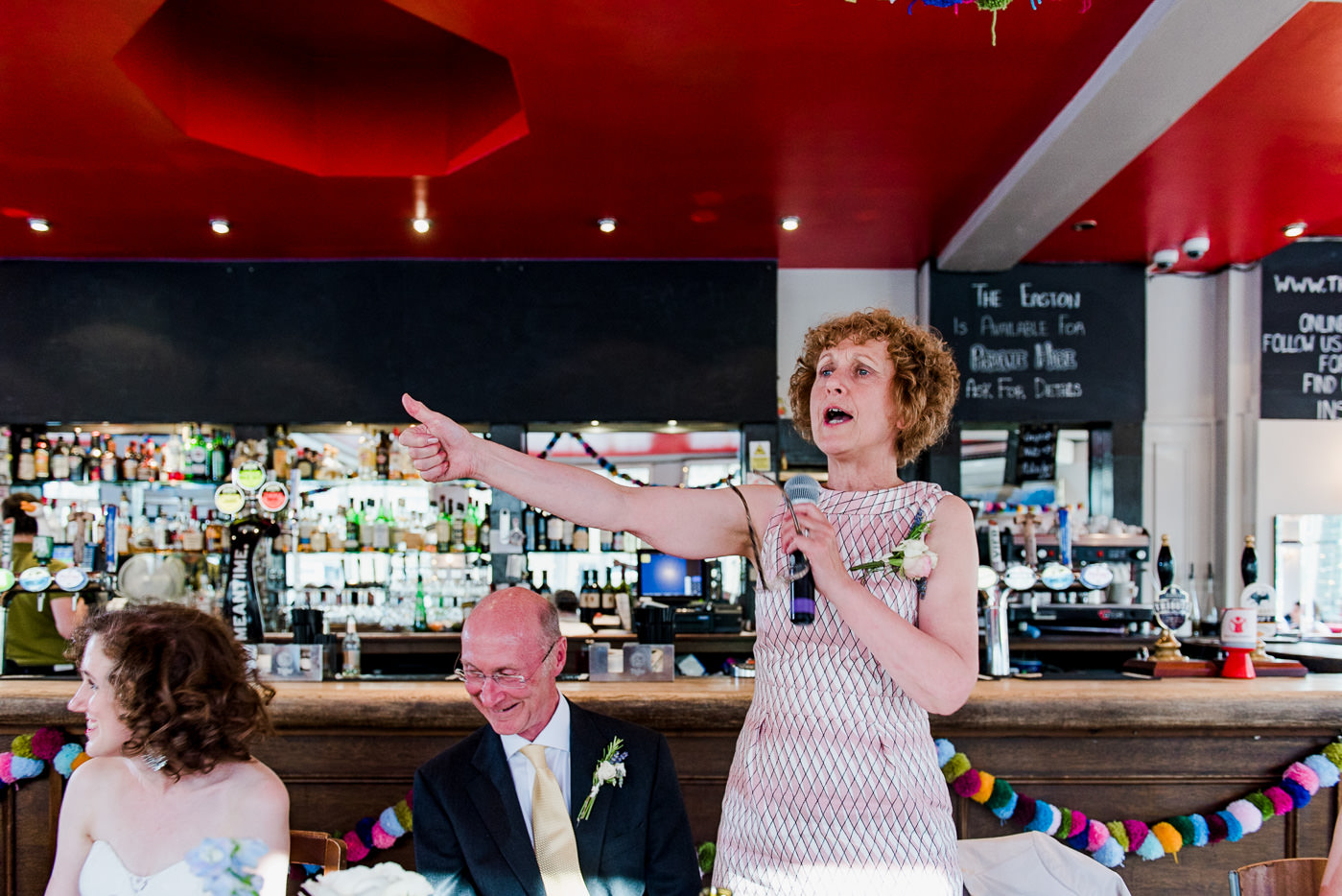 Easton Pub London wedding photography mother of bride speech