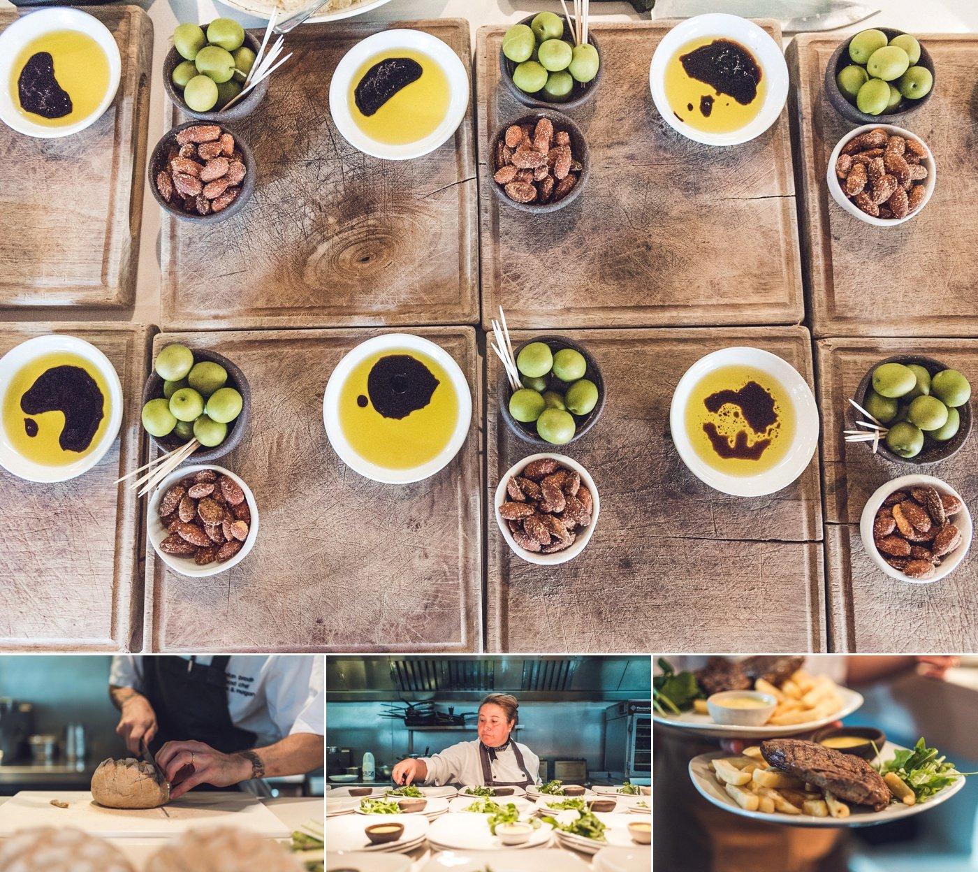 Wedding catering olives bread steak Refinery Bar Bankside