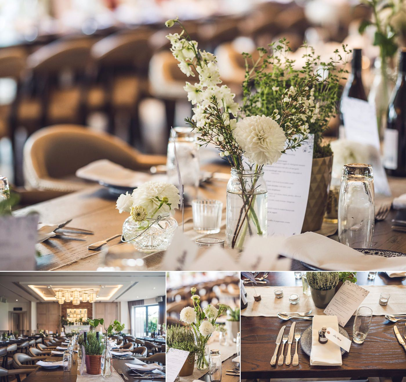 Cream and green floral decor with woodland vibes