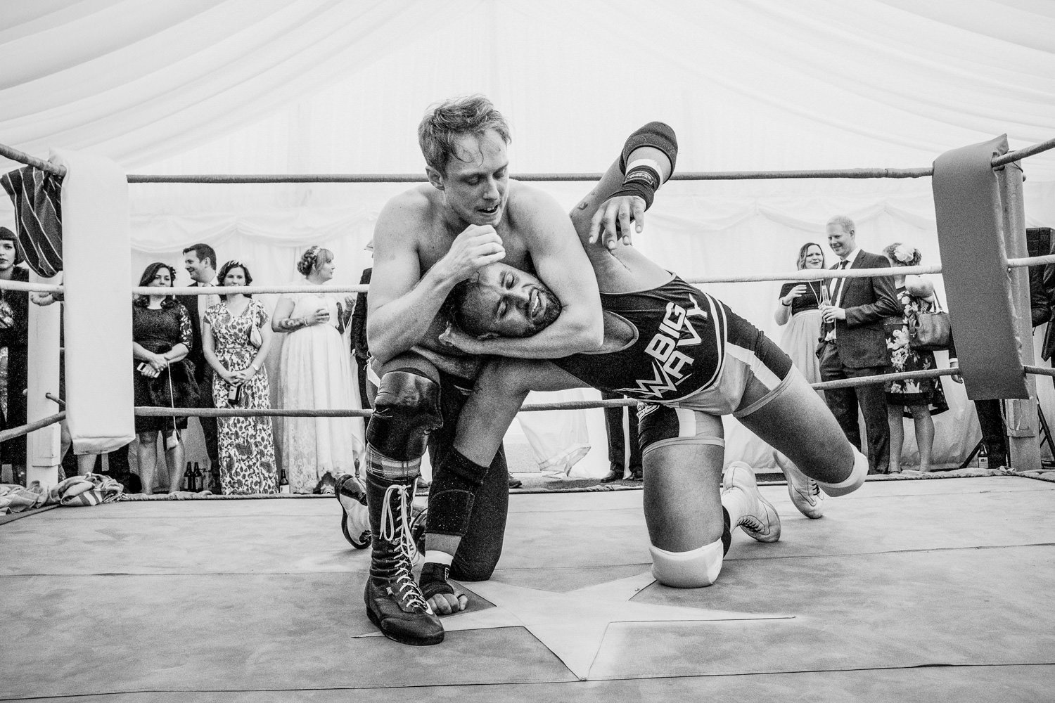 Wrestling themed wedding