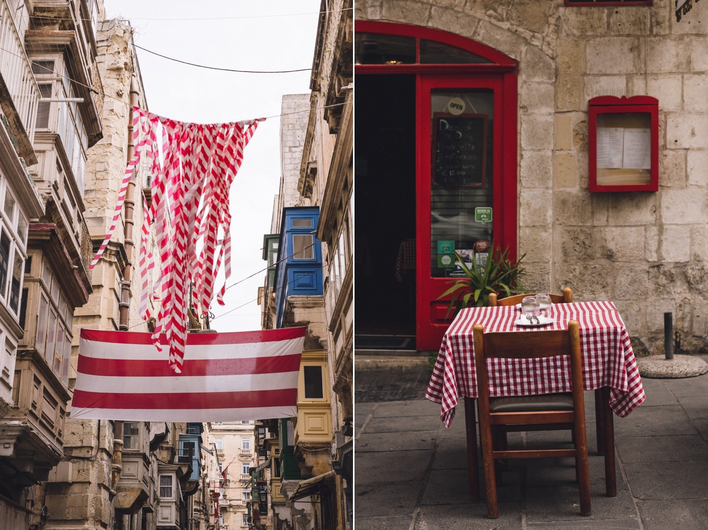 valetta streets red table cloth