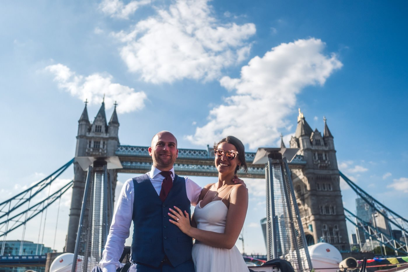 River thames portrait Warehouse wedding London